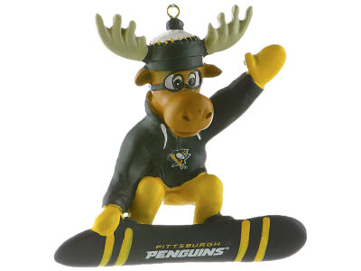 Pittsburgh Penguins Snowbarding Moose Ornament