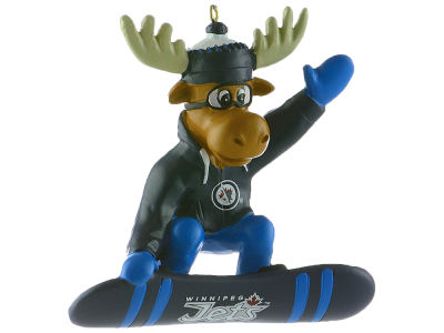 Winnipeg Jets Snowbarding Moose Ornament