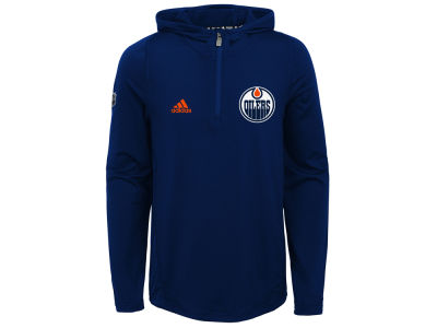 Edmonton Oilers adidas NHL Youth Training Hooded Pullover