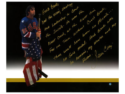 USA Hockey Jim Craig Steiner 16x20 Autographed Photo