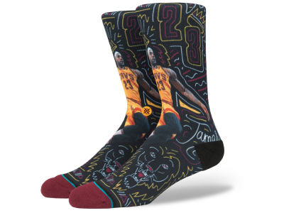 Cleveland Cavaliers LeBron James Stance NBA Sketchbook Series Crew Socks