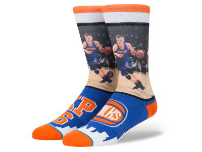 New York Knicks Kristaps Porzingis Stance NBA Future Legends Crew Socks