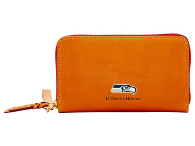 Seattle Seahawks Dooney & Bourke  Florentine Zip Around Wallet
