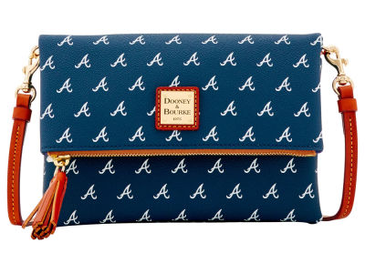 Atlanta Braves Dooney & Bourke Foldover Crossbody Purse