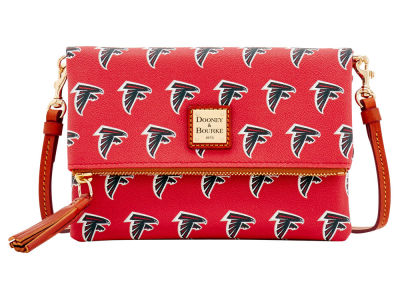 Atlanta Falcons Dooney & Bourke Foldover Crossbody Purse
