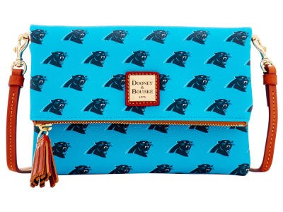 Carolina Panthers Dooney & Bourke Foldover Crossbody Purse