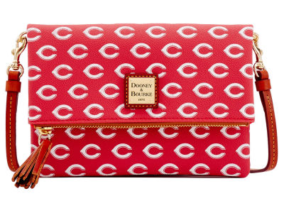 Cincinnati Reds Dooney & Bourke Foldover Crossbody Purse