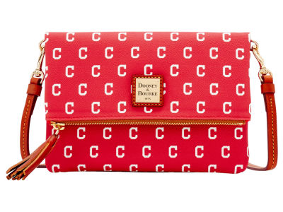Cleveland Indians Dooney & Bourke Foldover Crossbody Purse