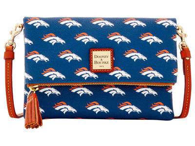 Denver Broncos Dooney & Bourke Foldover Crossbody Purse