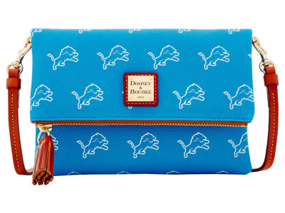 Detroit Lions Dooney & Bourke Foldover Crossbody Purse