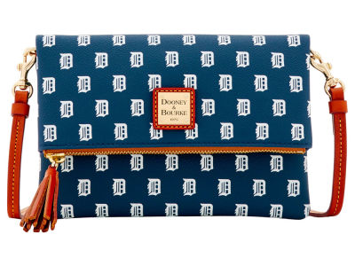 Detroit Tigers Dooney & Bourke Foldover Crossbody Purse