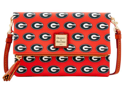 Georgia Bulldogs Dooney & Bourke Foldover Crossbody Purse