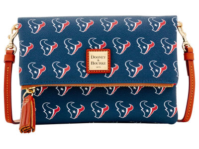 Houston Texans Dooney & Bourke Foldover Crossbody Purse