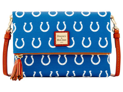 Indianapolis Colts Dooney & Bourke Foldover Crossbody Purse