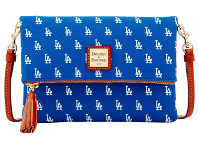 Los Angeles Dodgers Dooney & Bourke Foldover Crossbody Purse