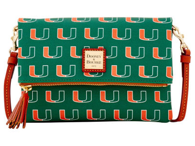 Miami Hurricanes Dooney & Bourke Foldover Crossbody Purse