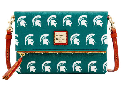 Michigan State Spartans Dooney & Bourke Foldover Crossbody Purse