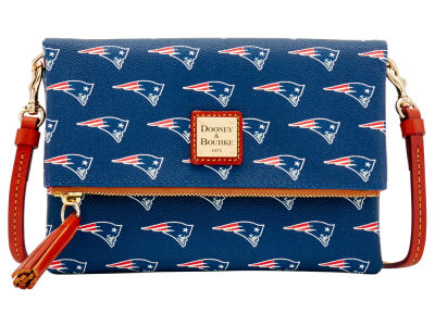 New England Patriots Dooney & Bourke Foldover Crossbody Purse