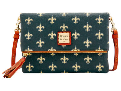 New Orleans Saints Dooney & Bourke Foldover Crossbody Purse