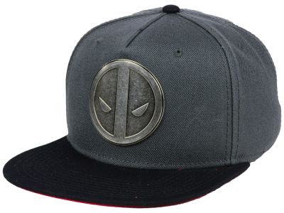 Marvel Deadpool Metal Face Snapback Cap