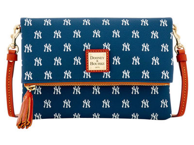 New York Yankees Dooney & Bourke Foldover Crossbody Purse