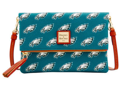 Philadelphia Eagles Dooney & Bourke Foldover Crossbody Purse