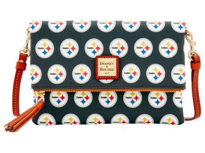 Pittsburgh Steelers Dooney & Bourke Foldover Crossbody Purse