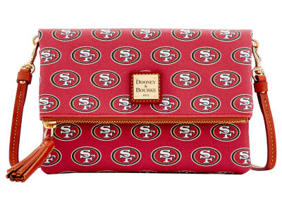 San Francisco 49ers Dooney & Bourke Foldover Crossbody Purse