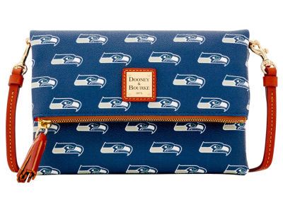 Seattle Seahawks Dooney & Bourke Foldover Crossbody Purse