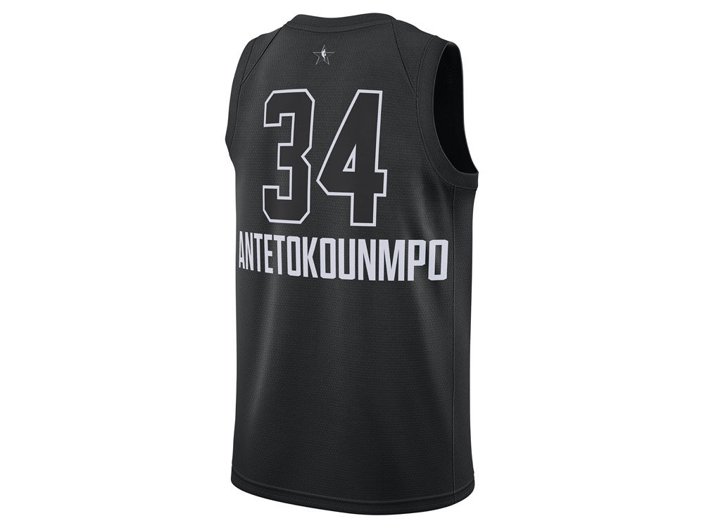 9247c2932 mens milwaukee bucks 34 giannis antetokounmpo white jordan brand 2018 nba all  star game jersey