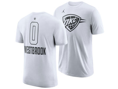 Oklahoma City Thunder Russell Westbrook Jordan 2018 NBA Men's All-Star Jordan Player T-Shirt