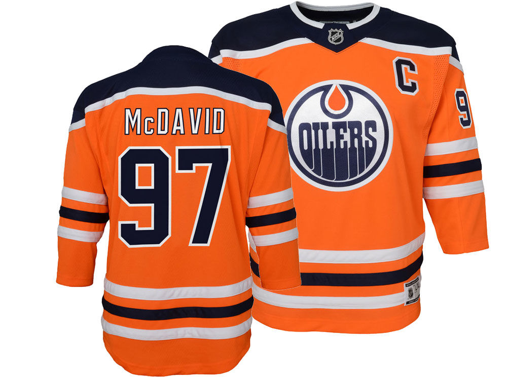 3f5d5b829 Edmonton Oilers Connor McDavid NHL Branded NHL Youth Premier Player Jersey