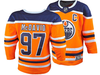 Edmonton Oilers Connor McDavid NHL Kids Premier Player Jersey
