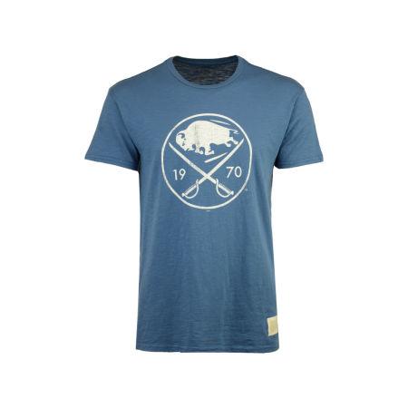 Buffalo Sabres Retro Brand NHL Men's First Line Logo T-Shirt