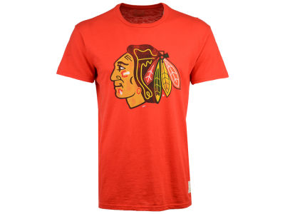 Chicago Blackhawks Retro Brand NHL Men's First Line Logo T-Shirt