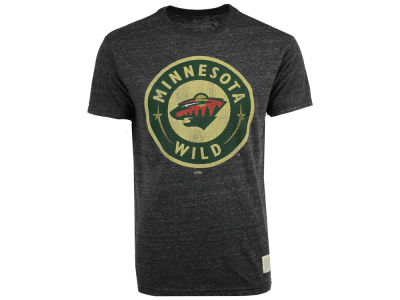 Minnesota Wild Retro Brand NHL Men's Blue Line Logo T-Shirt