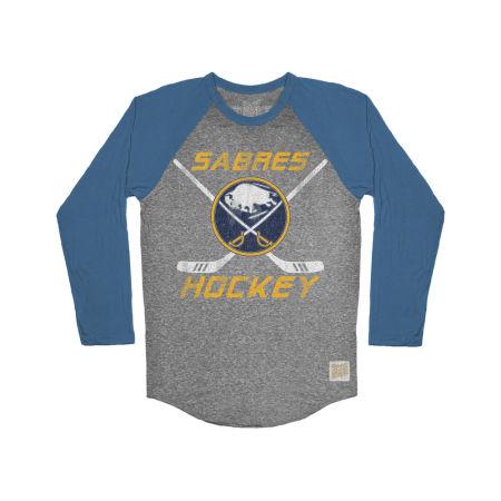 Buffalo Sabres Retro Brand NHL Men's Reggie Raglan Long Sleeve T-Shirt