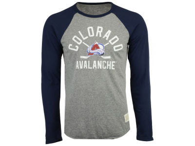 Colorado Avalanche Retro Brand NHL Men's Reggie Raglan Long Sleeve T-Shirt