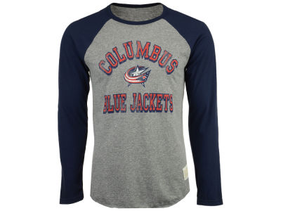 Columbus Blue Jackets Retro Brand NHL Men's Reggie Raglan Long Sleeve T-Shirt