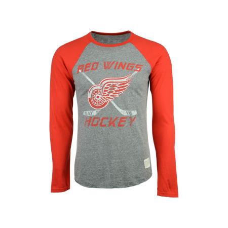 Detroit Red Wings Retro Brand NHL Men's Reggie Raglan Long Sleeve T-Shirt