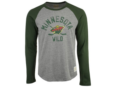 Minnesota Wild Retro Brand NHL Men's Reggie Raglan Long Sleeve T-Shirt