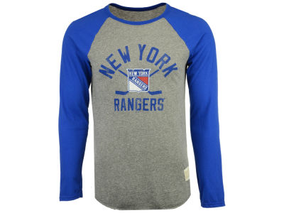 New York Rangers Retro Brand NHL Men's Reggie Raglan Long Sleeve T-Shirt