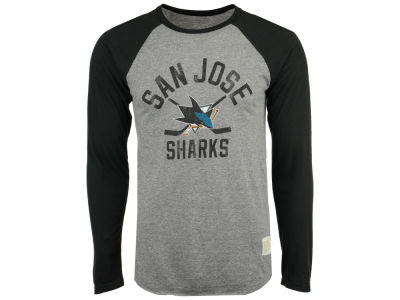 San Jose Sharks Retro Brand NHL Men's Reggie Raglan Long Sleeve T-Shirt