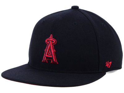 Los Angeles Angels '47 MLB Kids Black Shot Snapback Cap