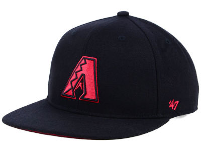 Arizona Diamondbacks '47 MLB Kids Black Shot Snapback Cap