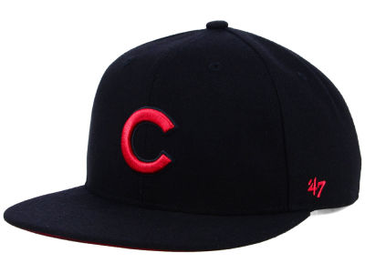 Chicago Cubs '47 MLB Kids Black Shot Snapback Cap