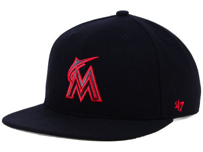 Miami Marlins '47 MLB Kids Black Shot Snapback Cap