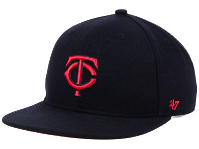 Minnesota Twins '47 MLB Kids Black Shot Snapback Cap