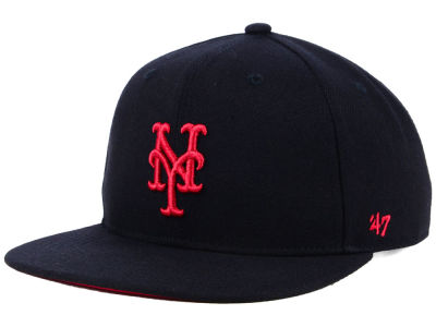 New York Mets '47 MLB Kids Black Shot Snapback Cap