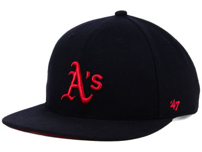 Oakland Athletics '47 MLB Kids Black Shot Snapback Cap